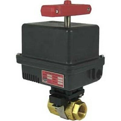 Gemini Valve Brass Barstock Ball Valve 120ac Electric Actuator-1-14