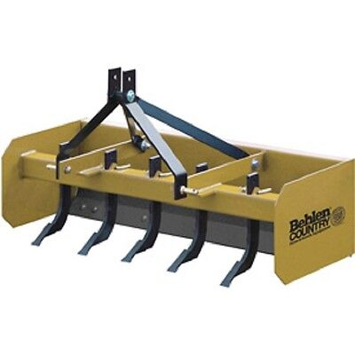 New 5 Heavy Duty Box Blade Tractor Attachment 5 Shank Category 1