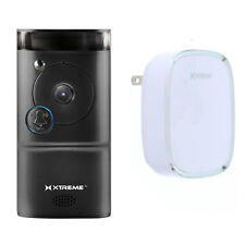 Xtreme Connected Home WiFi Smart HD Video Doorbell Camera With Free Chime Black