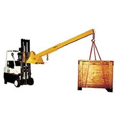 New Caldwell Hd Adjustable Pivoting Forklift Jib Boom Crane 6000 Lb. Cap.