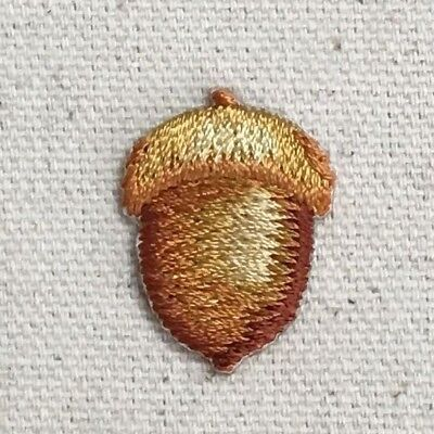 """Small 1"""" Acorn - Fall/Tree/Oak/Nature - Iron on Applique/Embroidered Patch"""