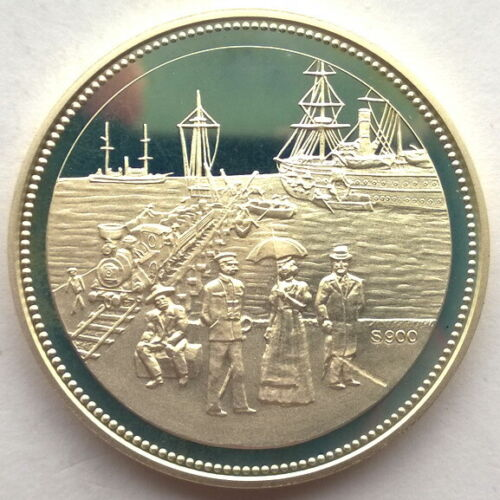Namibia 1992 100 Years of Stadt Swakopmund Silver Coin,Proof