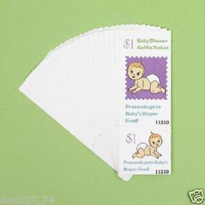 24 Baby Shower Game Paper Raffle Tickets DIAPER FUND