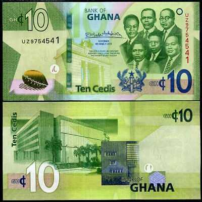 2 50 Cedi P New 2014-2015 UNC Low Shipping GHANA 6 Notes set 1 20 5 10