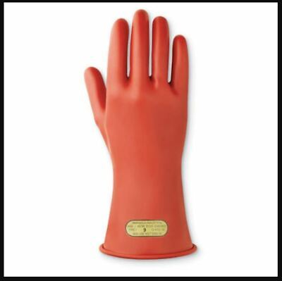 Marigold 114263 Rubber Electrical Insulating Gloves Sz 12 Red Class 00 500v Nos