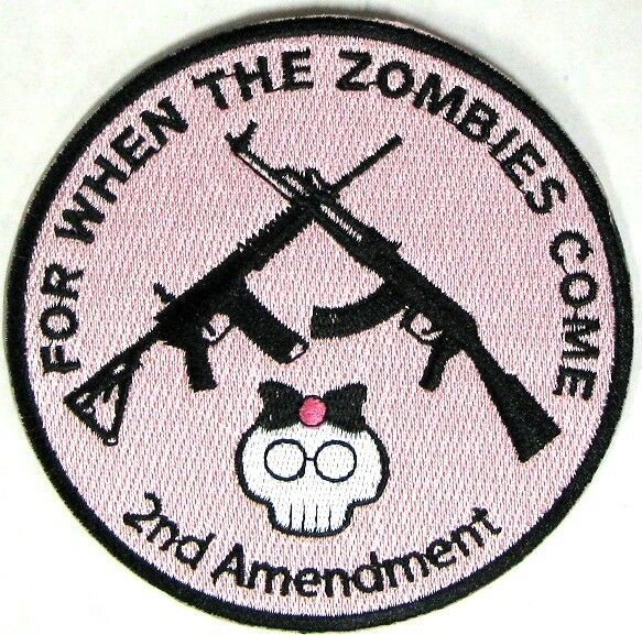 HERS For When The Zombies Come 2nd Amendment AK47 AR15 4 Inch KILLER PINK USA
