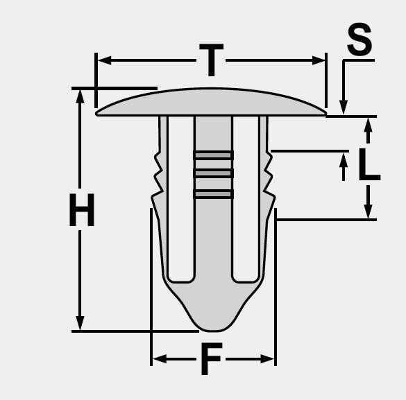 Seitenschweller Klammer Clips für Mercedes W202 W203 W204 W210 A0099884278
