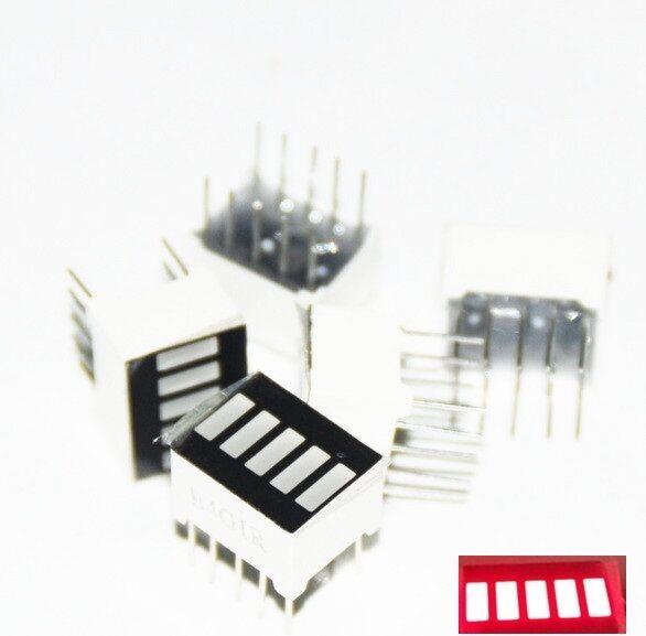 2pcs LED Red Bargraph 5 Segment LED Display 5 LED Bar Display  NEW