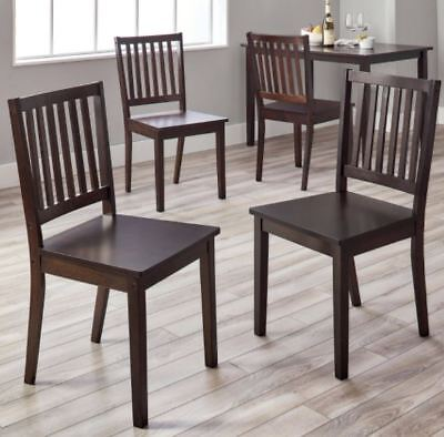 (Wooden Dining Chairs Set of 4 Table Seating Wood Kitchen Room Family Meals New)