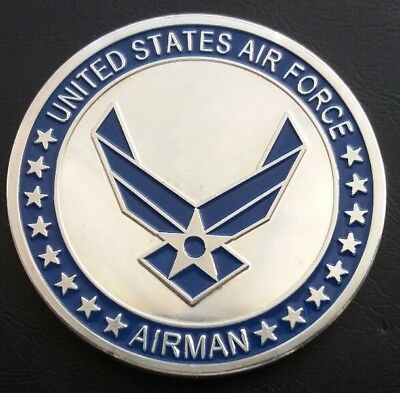 USAF AIRMAN Airman First Class Challenge Coin FREE COIN STAND