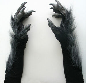 Black Cat Gloves With Nails
