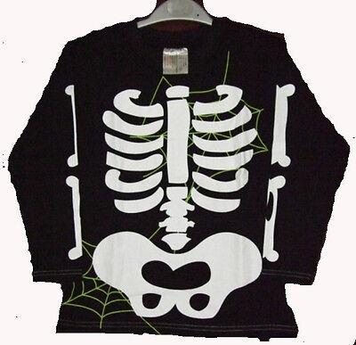 Sudadera Camisa Halloween Esqueleto Fantasma Horror Disfraz de Carnaval 110/116 (Halloween Fantasma Disfraz)
