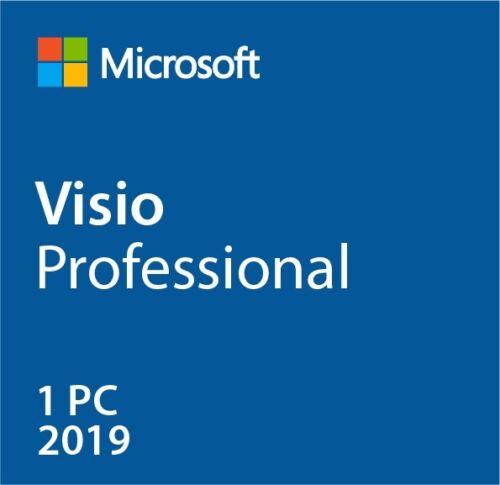 Instant MS Visio 2019 Pro Professional (32/64 Bit) Activation Product [Key] 1 PC