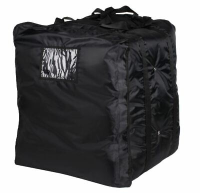 ServIt Insulated Pizza Delivery Bag, Black Soft-Sided Heavy-Duty Nylon, 20