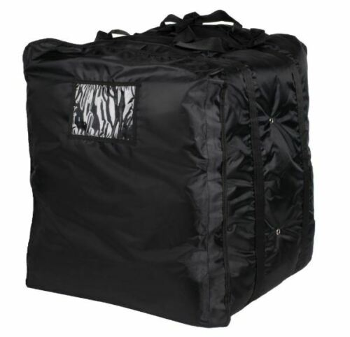 "ServIt Insulated Pizza Delivery Bag, Black Soft-Sided Heavy-Duty Nylon, 20"" x 20"