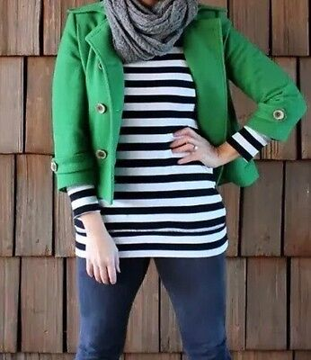 CAbi Women's #659 Clover Green Peacoat Double Breasted Jacket Wool Blends Sz 2 for sale  Athens