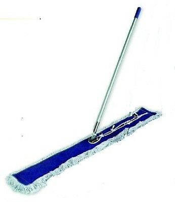 """Dust Mop Kit combo 48"""" White  Dust Mop, Wire Frame & Handle"""