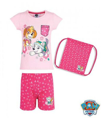Shorty mit Beutel Schlafanzug T-Shirt Mädchen Paw Patrol - T Shirt Mit Anzug