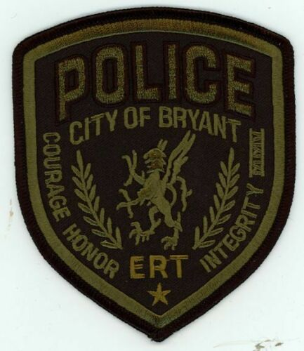 BRYANT POLICE ARKANSAS AR ERT SUBDUED NICE PATCH SHERIFF