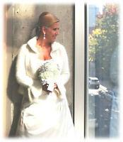 MARIAGE: Robe/Voiles/Cardigan/Bouquet/Bijoux/Bourse/Souliers