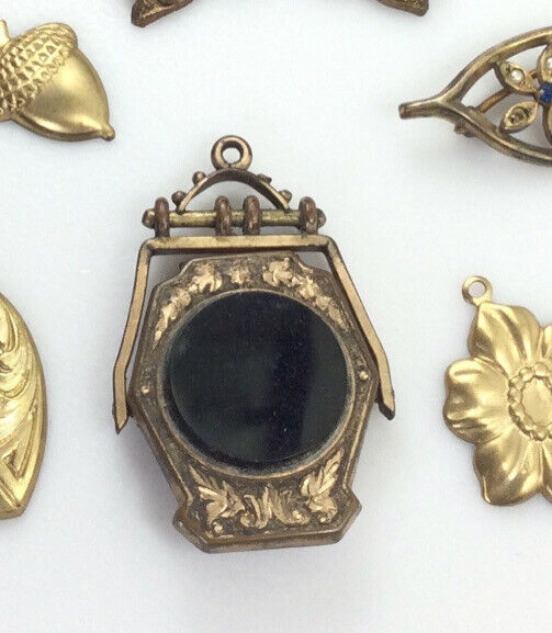 Antique Victorian Edwardian Momento Mori Mourning Pendant AS IS