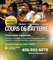 COURS DE BATTERIE - LAURENTIDES, St-Jérôme, Mirabel, Laval