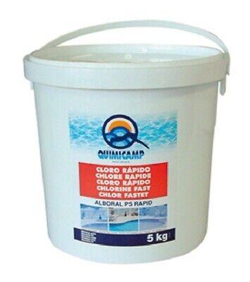 Cloro rápido Quimicamp Alboral PS Rapid 5kg granulado de gran calidad