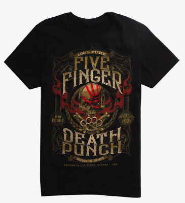 Five Finger Death Punch 5FDP 100% PURE CREST T-Shirt NEW Authentic & Official