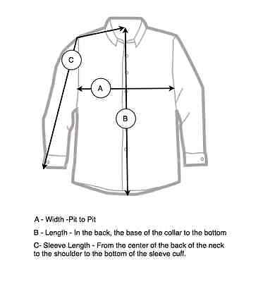 How to measure a dress shirt ebay for Mens dress shirt sleeve length