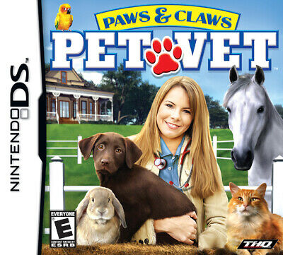 Paws & Claws: Pet Vet - Nintendo DS Game - Game Only Pet Vet Nintendo Ds