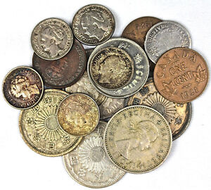 Canadian and Foreign coins and paper money, banknotes, silver