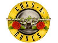 X4 Guns n roses, Olympic stadium, 17th June, standing tickets
