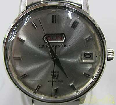 Citizen Auto Dater Stainless Steel 21 Jewels Automatic Mens Watch Auth Works