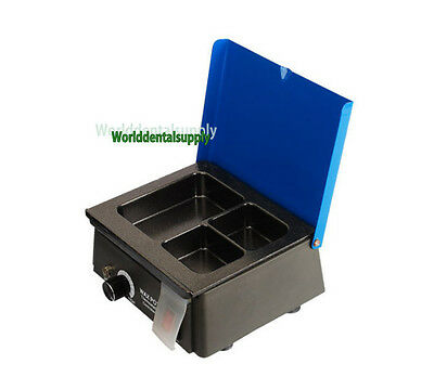 Dental 3-well Analog Wax Melting Dipping Pot Heater Melter Lab Equipment New