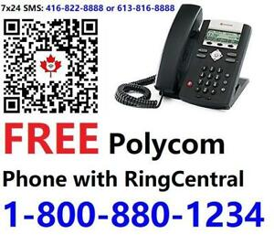 FREE Polycom 335 VOIP Phone with new RingCentral plan signup through us . Call / SMS 1-800-880-1234 for details
