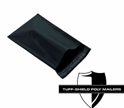 Size 7 - 19x24 Premium Black Self Seal Poly Mailers 3.2mil
