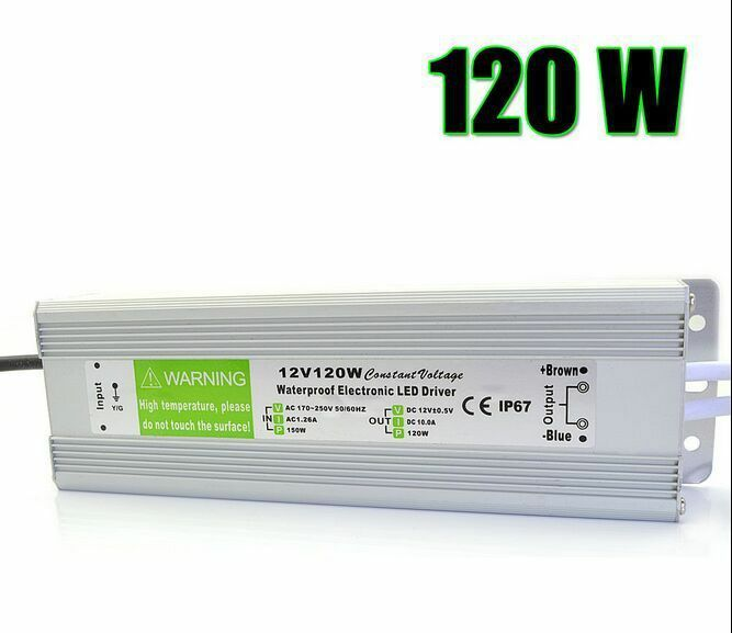 12V LED voeding TransformatorTrafo für LEDs-Transformator 12V/120W 10A LED IP67