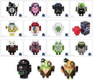 GOOGLE-ANDROID-SERIES-3-COMPLETE-SET-OF-15-Chase-Toy-Figure-Andrew-Bell-Huck-Gee