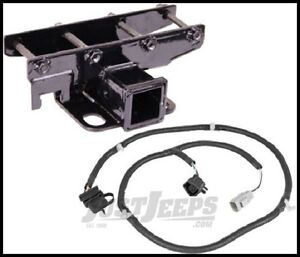 Jeep Wrangler JK Rugged Ridge Receiver Hitch with Wiring