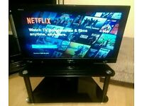 "Sony 32"" LCD with glass stand"
