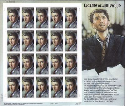 RJAMES: US 4197 JAMES STEWART LEGENDS OF HOLLYWOOD SOUVENIR SHEET , MNH