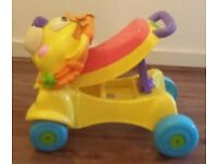 Fisher price walker and ride on musical lion