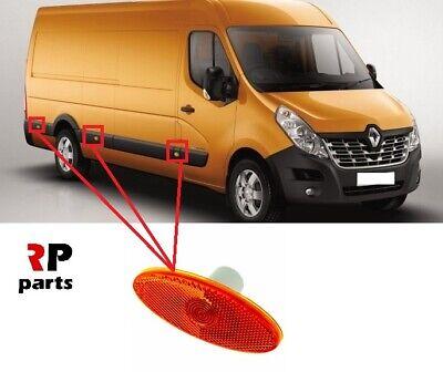 Renault Master Vauxhall Movano NV400 New 3x Side Marker Lamp Lights Lens Orange