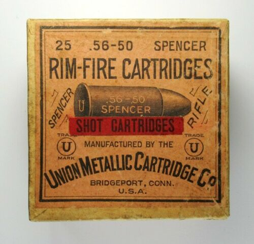 Very Nice Empty Box for 25 .56-50 Spencer Shot Cartridges by UMC