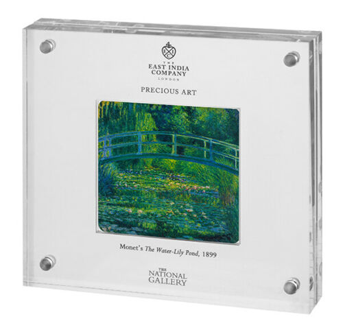 2017 Niue Monet Water Lily Pond 2 oz Silver Proof Coin in Display 1000 mintage!