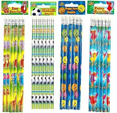 Pencils Erasers Football Fairy Zoo Animal Happy Face Smiley Party Fillers Case