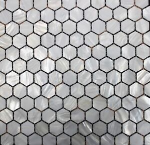 MOTHER OF PEARL MOSAIC TILE bath backsplash tiles bar kitchen