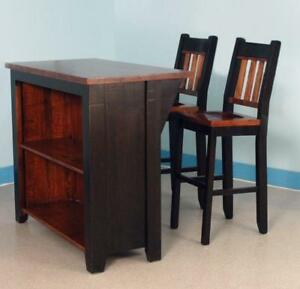 Solid Wood Kitchen Island Chair Bar Stool Kits for DIY Renovation Project - FREE SHIPPING