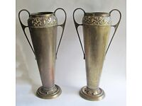 Pair of Carl Deffner secessionist vases