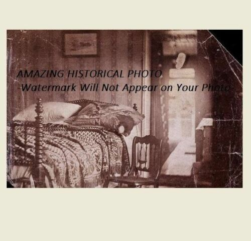 Abraham Lincoln Assassination Death Bedroom PHOTO Petersen House, Pillow
